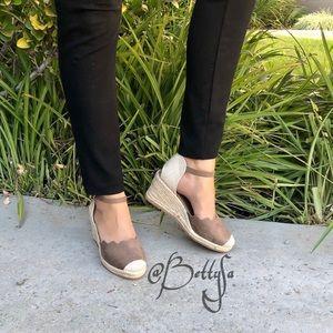 Shoes - closed toe espadrille sandals
